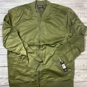 Elwood Olive Nylon Bomber Jacket Brand New